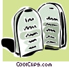 Ten Commandments Vector Clipart picture