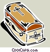 Vector Clip Art graphic  of a coffin