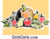 Vector Clipart illustration  of a bountiful harvest