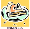 Vector Clipart picture  of a piece of pie