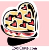 Vector Clip Art image  of a Valentine candy