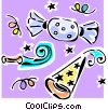 Vector Clip Art picture  of a party supplies