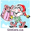 Vector Clipart illustration  of a Christmas elf