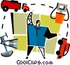 Vector Clip Art graphic  of a petroleum industry