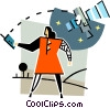 satellite communications concept Vector Clip Art picture