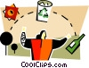 Vector Clipart graphic  of a recycle concepts