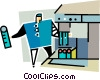 Vector Clipart image  of a factory worker