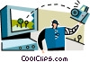 man with a digital camera Vector Clip Art picture