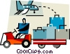 Baggage handler at the airport Vector Clipart graphic