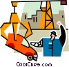 car in a junkyard Vector Clipart illustration