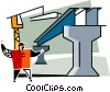Vector Clipart illustration  of a steelworker