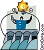 Vector Clip Art graphic  of a Hydro dam