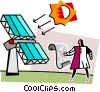 Vector Clip Art image  of a solar panels
