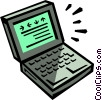 Vector Clip Art graphic  of a laptop/notebook computer