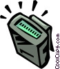 Vector Clip Art image  of a pager