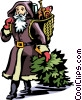 Father Christmas Vector Clipart graphic