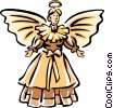 Vector Clip Art graphic  of a Christmas angel
