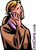 businesswoman talking on a cell phone Vector Clipart image