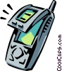 Vector Clip Art image  of a cellular telephone