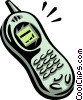Vector Clipart graphic  of a cellular telephone