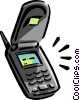 Vector Clip Art picture  of a cellular telephone