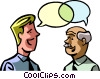 Vector Clipart graphic  of a two businessmen talking