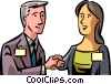 Vector Clip Art image  of a greeting/shaking hands