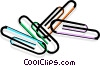 Vector Clipart image  of a paperclips