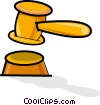 judge's gavel Vector Clipart illustration