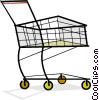 Vector Clip Art image  of a shopping/grocery cart