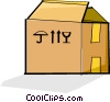 Vector Clipart picture  of a cardboard box