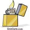 Vector Clip Art picture  of a lighter