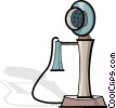 Vector Clipart graphic  of an antique telephone