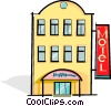 Vector Clip Art graphic  of a motel