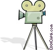 movie camera Vector Clip Art graphic