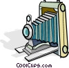 antique camera Vector Clipart graphic