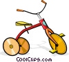 Vector Clip Art graphic  of a tricycle