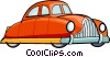 Vector Clipart image  of a vintage automobile
