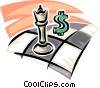 chess game with dollar sign Vector Clipart image
