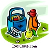 Vector Clipart image  of a picnic basket