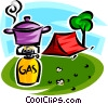 Vector Clipart graphic  of a camping equipment