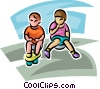 Vector Clipart image  of a kids