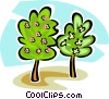 Vector Clipart graphic  of a tree with flowers