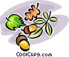 acorns Vector Clipart graphic