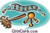 Vector Clip Art image  of a massage instruments
