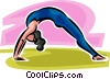woman stretching Vector Clipart image