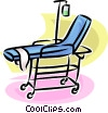 hospital gurney with intravenous drip Vector Clip Art picture