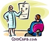 person having an eye exam Vector Clipart picture