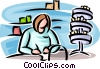 Vector Clip Art image  of a pharmacist