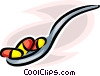 Vector Clip Art picture  of a spoon with medicine